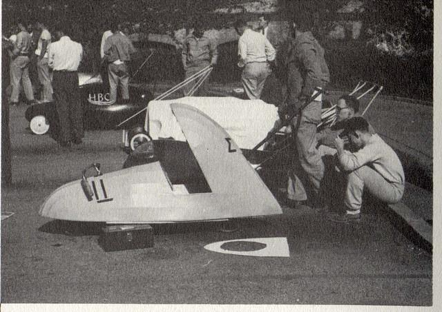 1955 Ken Walborn and Don Sheppard planning the race.